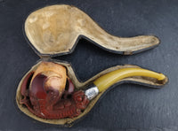 Antique Meerschaum pipe, Eagle claw