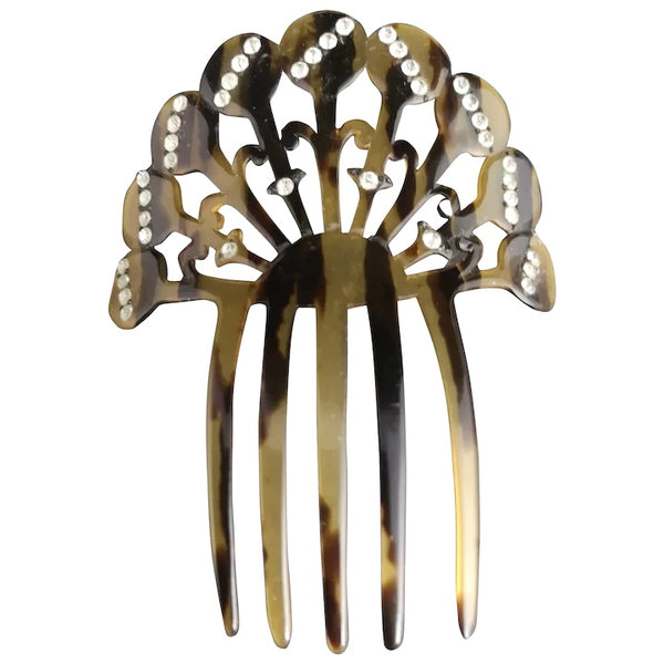 Vintage Art Deco hair comb