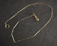 Vintage Art Deco 18ct white gold watch chain
