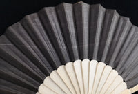 Antique Victorian bone and silk hand fan