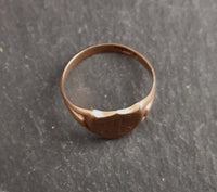 Antique 9ct Rose gold shield signet ring