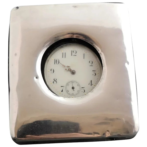 Antique silver pocket watch stand