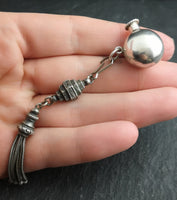 Antique Victorian silver chatelaine scent bottle