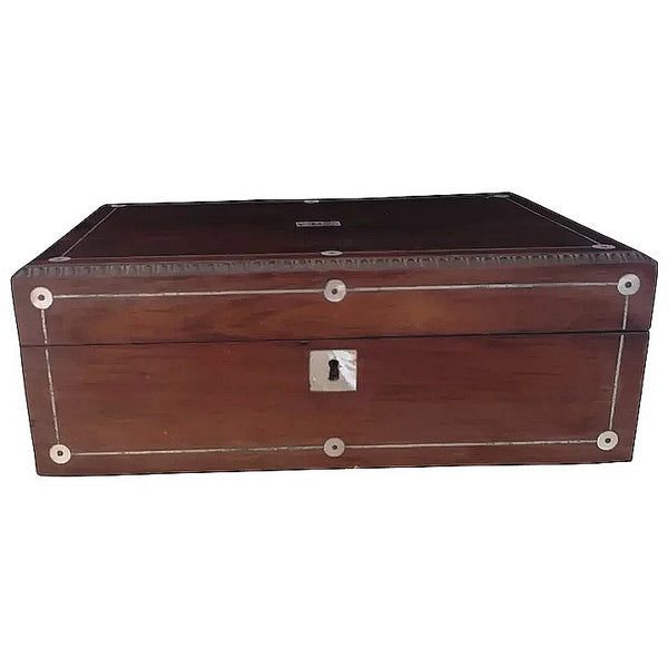 Antique Rosewood and Mother of Pearl work box