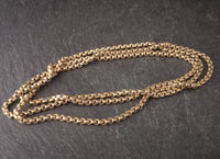 Antique Victorian longuard chain, rolled gold