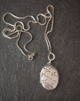 Vintage silver locket and chain, necklace