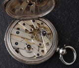 Antique Victorian silver half hunter pocket watch, ladies
