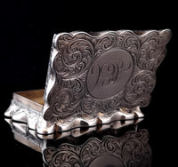 Antique silver snuff box, Deakin and Francis