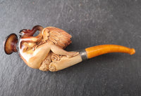 Rare antique meerschaum pipe, Leda and the Swan