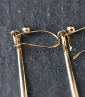 Vintage Art Deco gold drop earrings