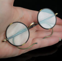 Vintage Art Deco 1920's, Round framed spectacles, glasses