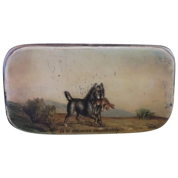 Georgian snuff box, hunting dog