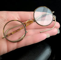 Art Deco round glasses, faux tortoiseshell spectacles