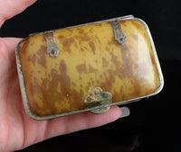 Victorian faux tortoiseshell tobacco box, combination card case