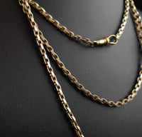 Antique longuard chain, Victorian muff chain necklace
