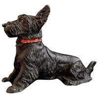 Vintage Terrier dog table vesta and ashtray