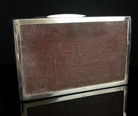 Antique silver cigarette box, humidor