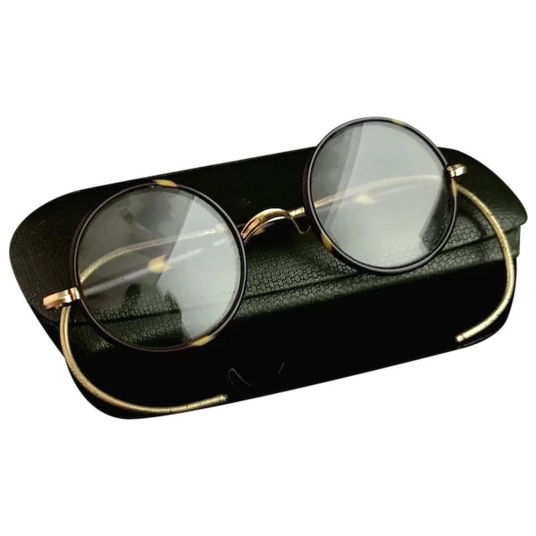 Vintage Art Deco spectacles, 1920s round framed glasses