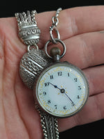 Antique Victorian Albertina, chatelaine watch chain