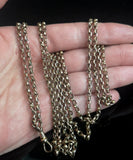 Antique Victorian longuard chain, muff chain necklace