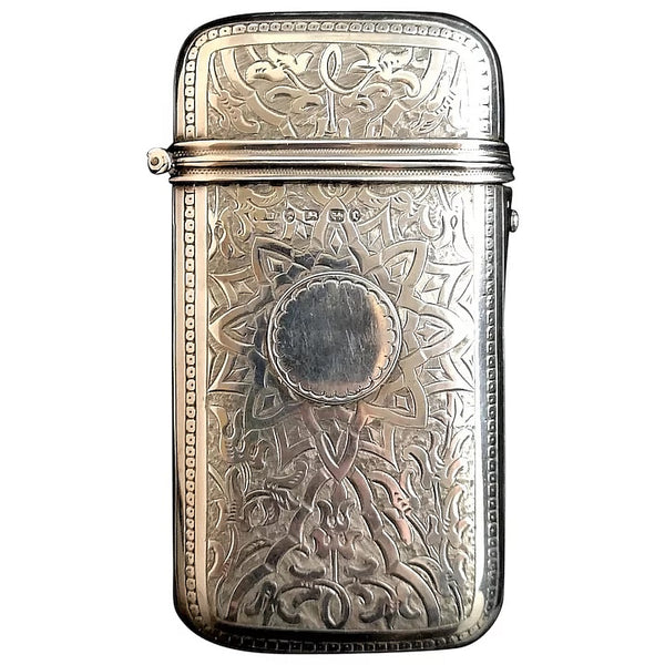 Antique Victorian silver cigar case