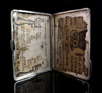 Victorian silver card case, aesthetic engraved