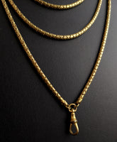 Victorian longuard chain, muff chain necklace