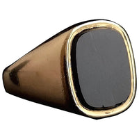 Vintage 9ct gold Onyx signet ring