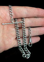 Antique silver albert chain, watch chain