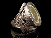 Antique 22ct gold Sovereign ring, 9ct gold mount