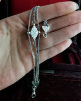 Antique Victorian silver Albertina chain, bracelet