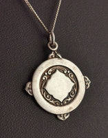 Vintage sterling silver fob pendant, necklace