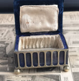 Antique silver plated jewellery casket