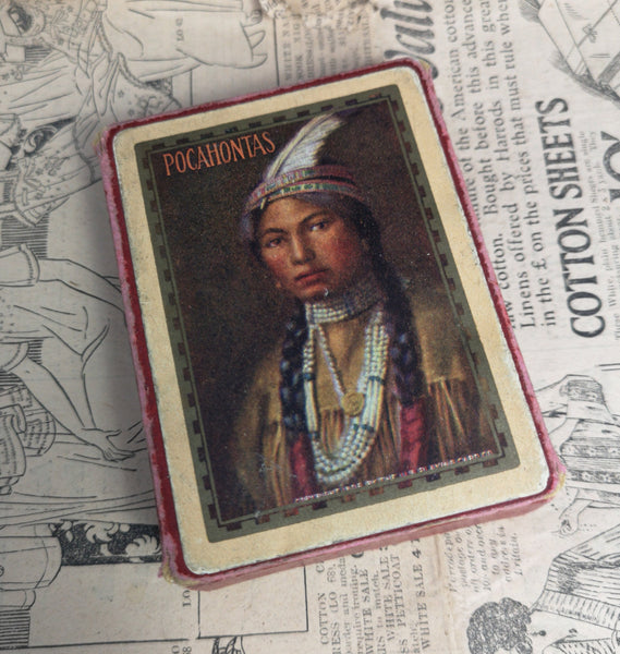 Antique playing cards, Pocahontas Congress 606, USPCC, 1906