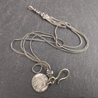 Antique silver albertina, watch chain