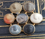 Georgian mourning brooch, lava cameo, 18ct gold