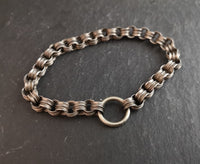 Antique Victorian silver bracelet, fancy link
