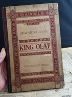 Antique Opera book, King Olaf, Victorian
