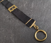 Victorian buckle watch chain, ribbon