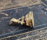 Antique Georgian seal fob, gilt bronze