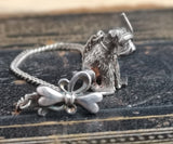 Vintage Russian silver watch chain, scuba dog