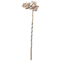 Vintage 9ct gold stick pin, classic car