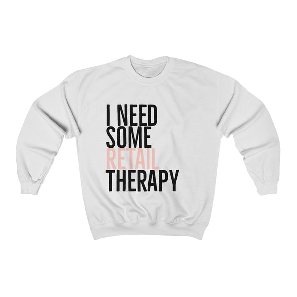Retail Therapy Wide Neck Sweatshirt