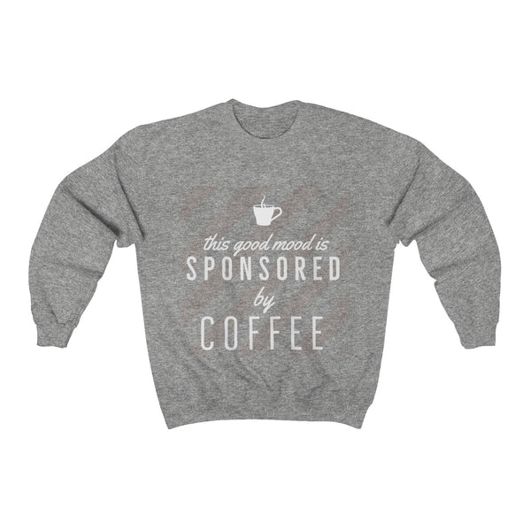Sponsored By Coffee Crew Neck Sweatshirt