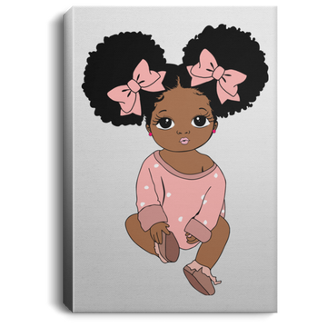 Baby In Light Pink - Portrait Canvas .75in Frame