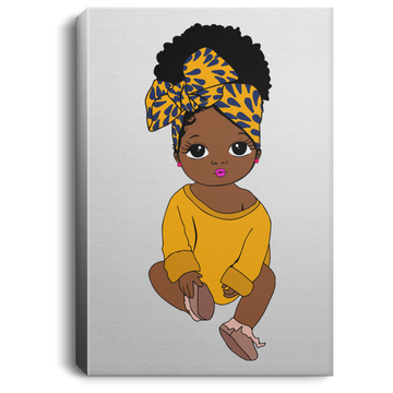 Baby In Yellow - Portrait Canvas .75in Frame