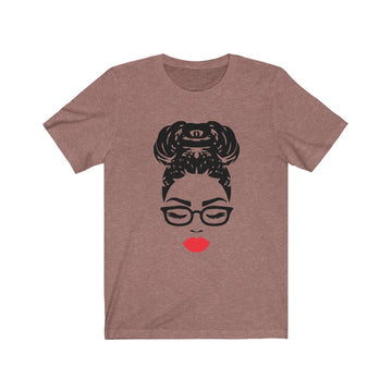Braided Bun and Red Lips T-Shirt