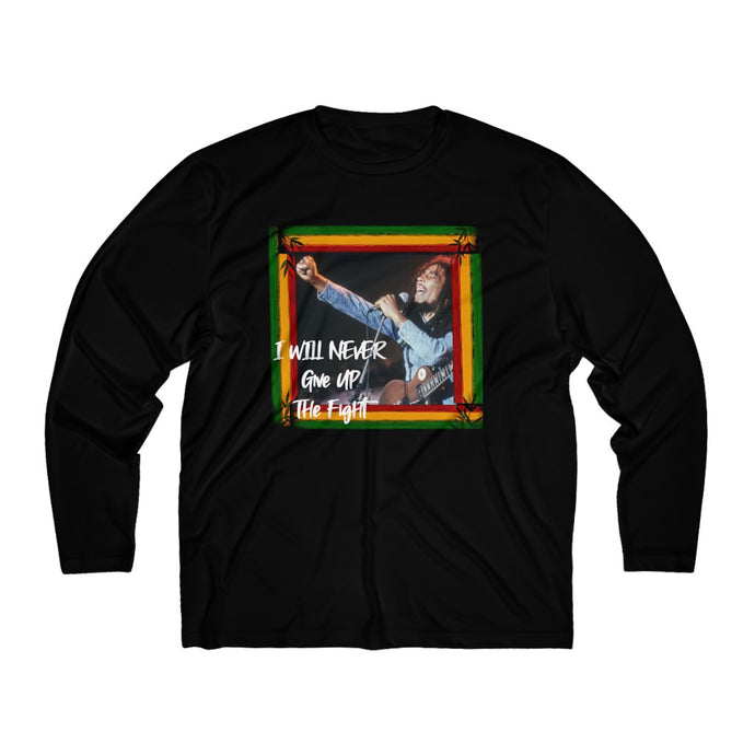 Marley/Never Give Up/Men's Long Sleeve Moisture Absorbing Tee
