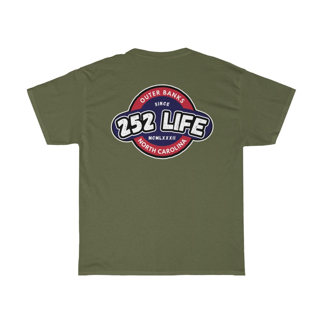 252 Life/Red Blue/Classic/Arch/Unisex Heavy Cotton Tee