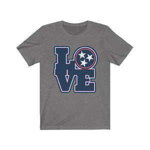 Genuine 615 Life/Love Logo/Blue Blue/Football/Nashville/Unisex Jersey Short Sleeve Tee